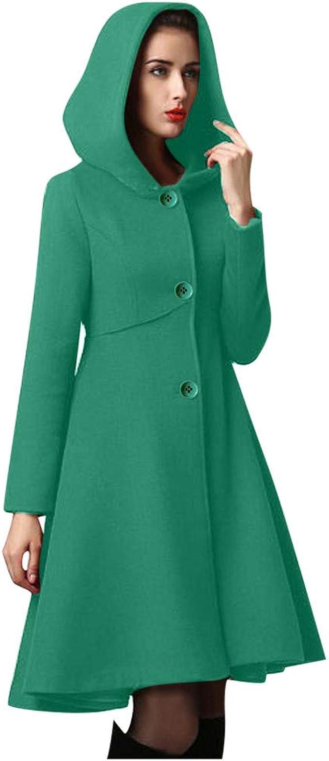 manteau vert femme pas cher