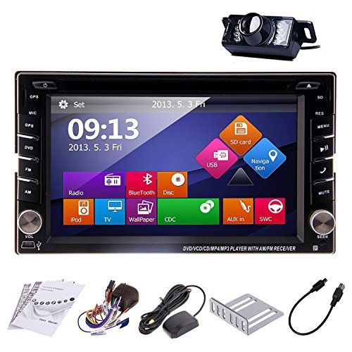 Ouku In Dash Double Din Car Dvd Player With Touch Screen Lcd