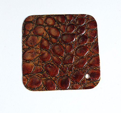 (Rich Brown Croc Embossed Scrap Leather 4.5