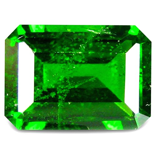 1.15 ct Octagon Shape (7 x 5 mm) Russian Green Chrome Diopside Natural Loose Gemstone