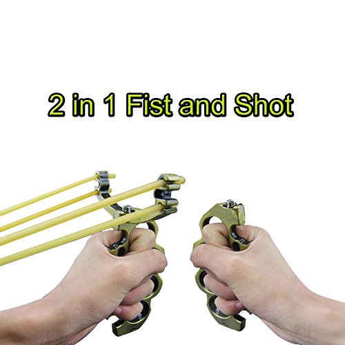 (2 in 1 Metal alloy card ball precision catapult / five finger tiger catapult/Vine)
