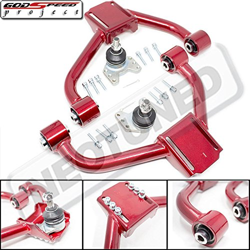 Godspeed ADJUSTABLE FRONT UPPER CAMBER ARMS WITH BALL JOINTS for GS300/GS400/GS430(S160) 1998-2005 ()