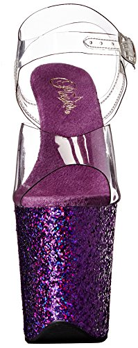Pleaser Transparent Bout clr Holo 808lg purple Glitter Flamingo Ouvert Femme raXqrBx