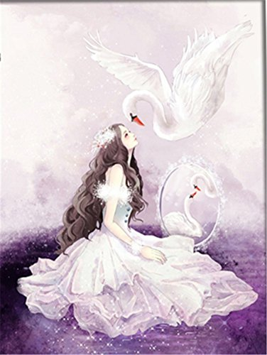 5D Swan DIY Cross Stitch Painting Sticker Pasted Gift - 5
