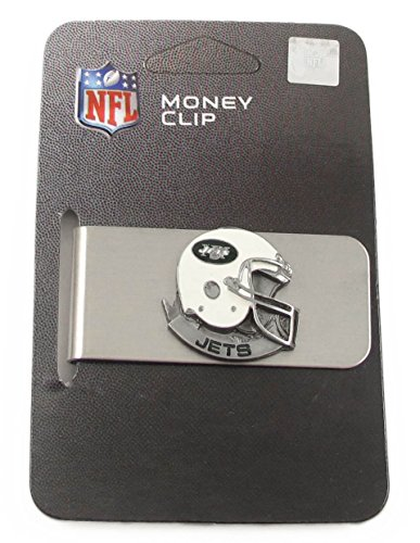 New York Jets Enameled Pewter Money Clip/Card Holder - NFL Football Fan Shop Sports Team Merchandise