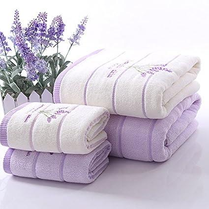 Algodón 32 comparte la toalla de baño con el patrón 70 * 140cm de la lavanda