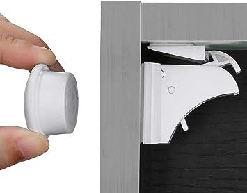4+1 2+10 Set Magnetschloss Unsichtbare Baby Kindersicherung Schrankschloss