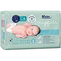 Mater Nappies Size 0 (up to 3.5kg), Newborn First Weeks, 24 Count