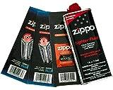 Zippo Gift Set - 4 oz Lighter Fluid 1 Wick Card & 2 Flint Card