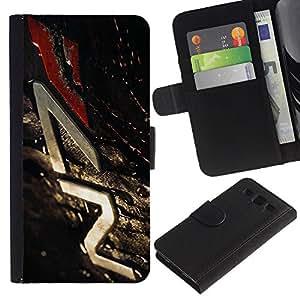 YiPhone /// Tirón de la caja Cartera de cuero con ranuras para tarjetas - N7 Misa Eff3Ct - Samsung Galaxy S3 III I9300