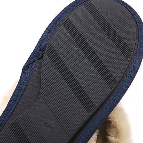 Pantofole Slip-on Classico Chicnchic Unisex Caldo E Morbido Antiscivolo Arancione