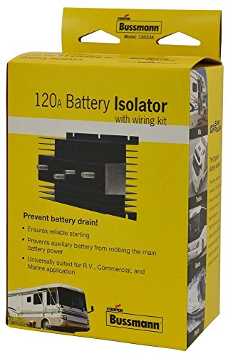 BUSSMANN RB-BI-120A - 120 AMP Battery Isolator- hex nuts and lock washers (Pack of - 120a Isolator