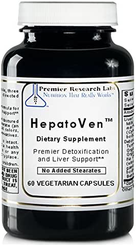 HepatoVen TM, 60 Capsules, Vegan Product - Premier Detoxification and Liver Support