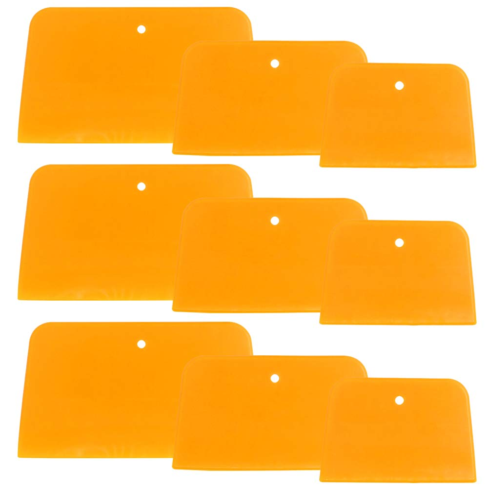 Set of 9 Body Filler Spreaders Automotive Body Fillers, SourceTon 4, 5, 6 Inch Reusable Plastic Spreader for Applying Fillers, Putties, Glazes, Caulks and Paint