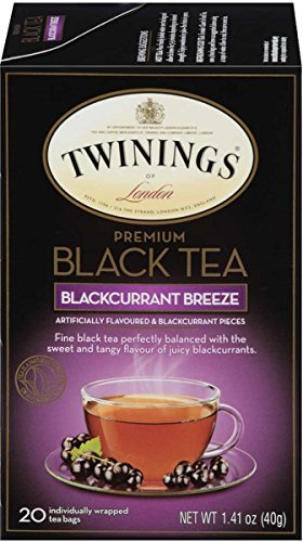 Twinings of London Premium Black Tea Blackcurrant Breeze, 20 Count (Pack of 6)