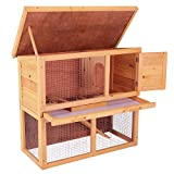 Superworth 36'' Wooden 2- Story Rabbit Hutch Chicken Coop Waterproof Wood Hen House Poultry Pet Cage
