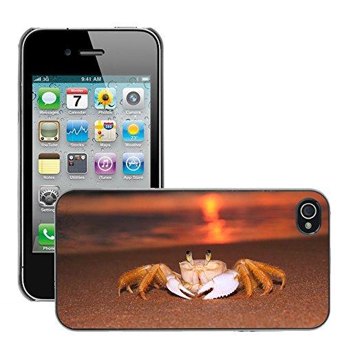 Stampato Modelli Hard plastica Custodie indietro Case Cover pelle protettiva Per // M00421724 Siri Sunrise Beach // Apple iPhone 4 4S 4G