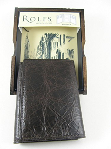 with Wood New Valet Brown Leather Destinie Rolfs Gift Men's Box Wallet Trifold Genuine qZ08w7