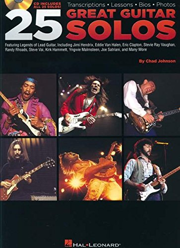 Free Guitar Tab Books (Hal Leonard 25 Great Guitar Solos Tab Songbook with CD)