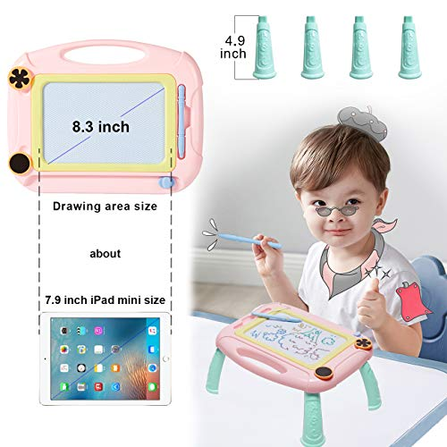 Matesy Toddler Toys for 1-2 Year Old Girls Easter Gifts, Magnetic Drawing Board for Kids Girls Age 1 2 3 Year Old Girl Birthday Gifts, Doodle Board Drawing Pad for Toddler Girls Toys Age 1-2-4