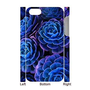 Blue Flowers Brand New 3D Cover Case for Iphone 4,4S,diy case cover ygtg613337