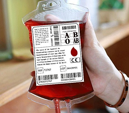 H.YOUNG Reusable Blood Pack Drink Container/Bag with Fast Filling Funnel For Party Hallowen Children Funny Decoration by H.YOUNG -