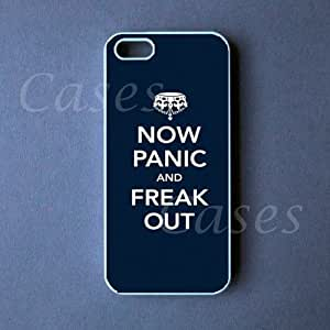 CUSTOM IPHONE 5 CASE PANIC and FREAK OUT Iphone 5 Cover LOVELY Pretty Cute BEST COOLEST STYLISH