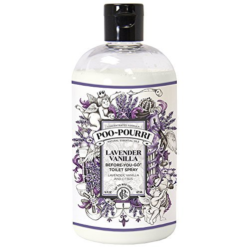 Poo-Pourri PP016-TST Lavendar Go Toilet Spray 16-Ounce Refill Bottle, Lavender Vanilla Scent, 16 ounce, (Food Mentioned In The Wizard Of Oz)