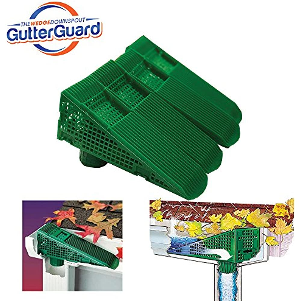 Wedge Eliminates Downspout Pipe Clogs From Leaves And