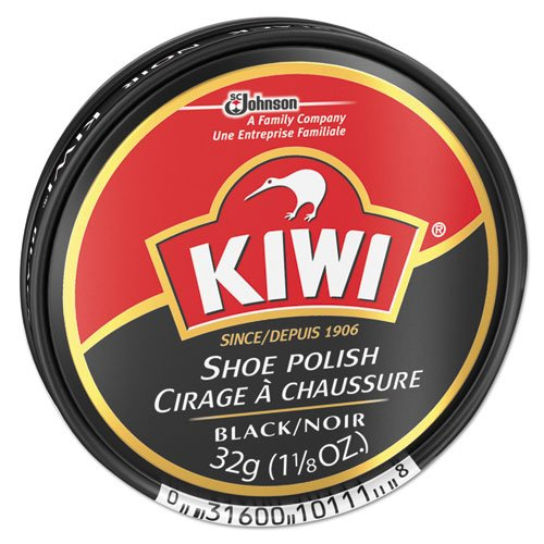Diversey KIWI Black Shoe Polish, 32 g Tin (144/Carton) - BMC-DVO CB101113 by Miller Supply Inc (Image #1)