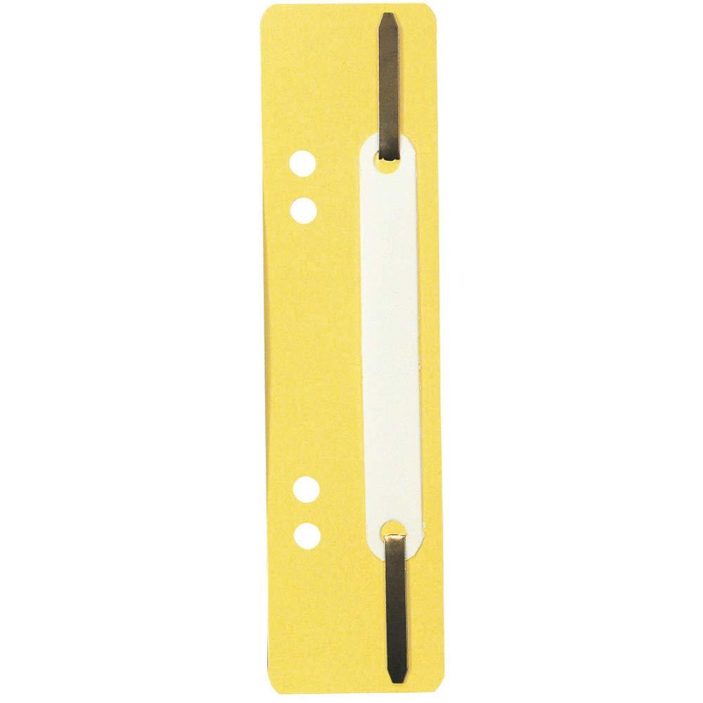 mit 250 Einh/ängeheftstreifen aus PP mit Doppellochung, ideal f/ür Dokumente Din A4, 35 x 150 mm 250er Pack gelb Exacompta 426004B Packung