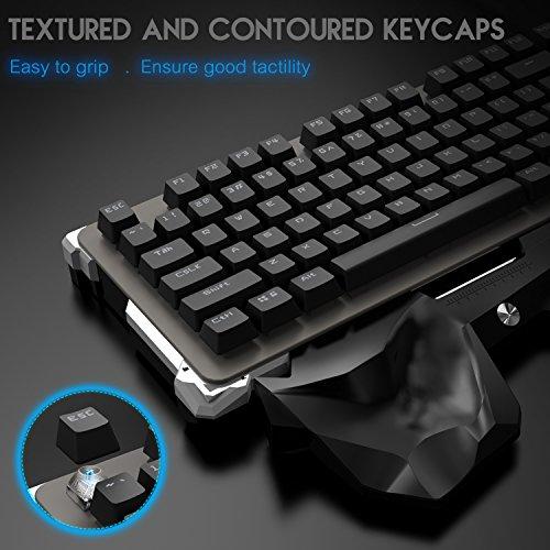 [해외]기계식 키보드, 파란색 스위치가있는 RGB 백라이트 게임용 키보드/Mechanical Keyboard, RGB Backlit Gaming Keyboards with Blue Switches