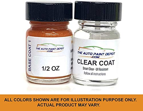 Auto Paint Depot Touch Up Paint for Nissan, Infiniti Color Code Nah Force Cayenne Red Pearl, Includes Brush (0.5 Oz with 0.5 Oz Clear Coat)