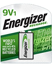 Energizer Rechargeable 9V Batteries, NiMH, 175 mAh, Pre-Charged, 1 Count (Recharge Universal)