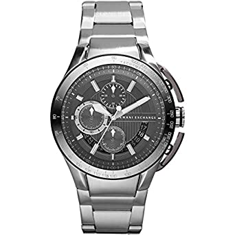 ad9c2d3ba3d Amazon.com  A X ARMANI EXCHANGE Stainless Steel Chronograph Mens ...