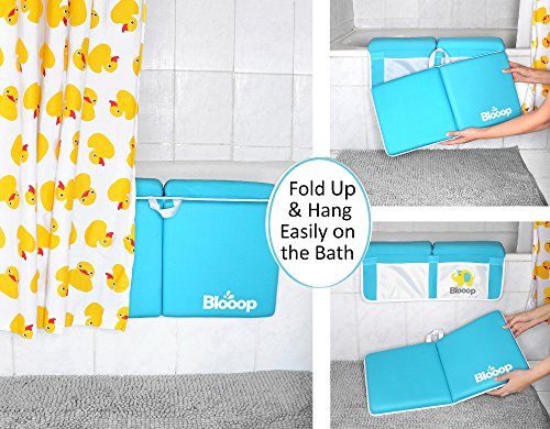 Bath Kneeler with Elbow Rest Pad Set (2-Piece), X-Long, Thick, Knee Cushioned Bathtub Support | Non-Slip Bottom, 4 Caddy Pockets | Hypoallergenic Padding | Blooop Bath Kneeling Pad by Blooop (Image #4)