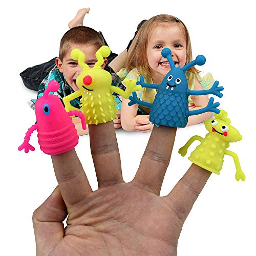 - Botrong Toy, Lovely Face Story Time Finger Puppets Set Role Play Realistic Toddlers