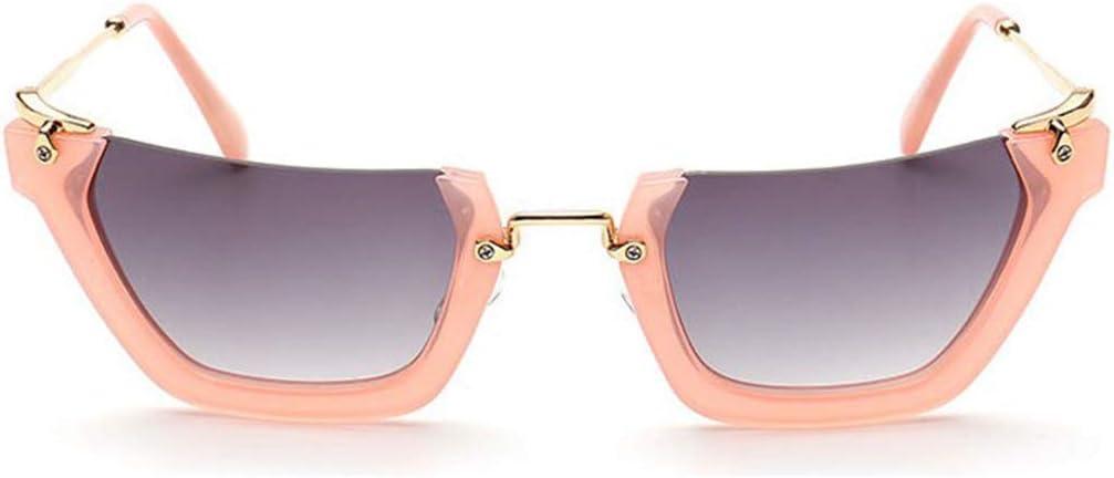 Gözəl Demi-Cadre irrégulier Petite Taille Lunettes de Soleil for la Protection des Femmes Hommes UV for l'extérieur Conduite Vacances personnalité Accessoires (Color : Green) Pink