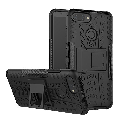 Zenfone Max Plus Case M1(ZB570TL),Mustaner Dual Layer Shock-Absorption Armor Cover Full-body Protective Case with Kickstand for Asus Max Plus (M1) ZB570TL (Black)