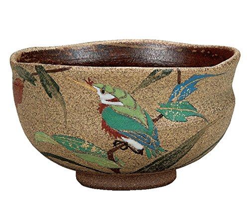 Japanese Matcha Bowl Kingfishers Kutani Yaki(ware) by kutani