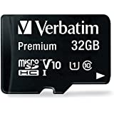 Verbatim 32GB Premium microSDHC Memory Card with Adapter, UHS-I V10 U1 Class 10