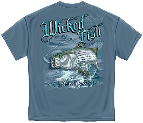 Bass Pro Shops Marine (Striped Bass Fishing 100% Cotton Casual Men's Shirts, Show Your Love of Fishing with our Unisex Wicked Fish Striper Bass Saltwater Fishing T-shirts for Men or Women (XXX-Large))