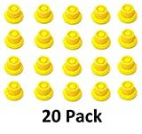 20 Pack Replacement YELLOW SPOUT CAPS Top Hat Style fits # 900302 900092 BLITZ Gas Can Spout Cap fits self venting gas can Aftermarket (SPOUTS NOT INCLUDED)