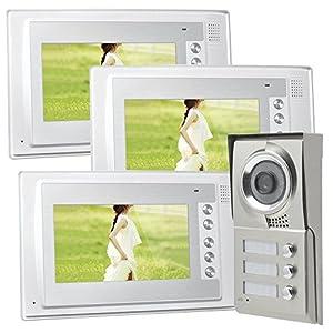 Dreifamilienhaus Video Gegensprechanlage Türsprechanlage Sprechanlage 3 x 7...