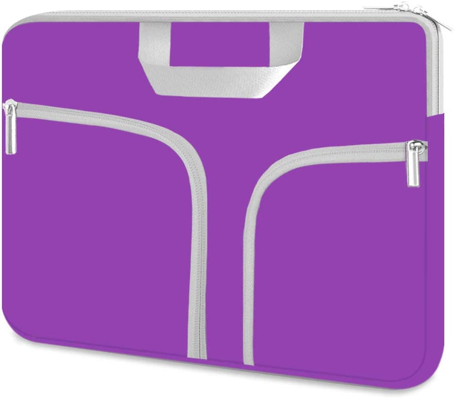 Chromebook Case, HESTECH 11.6-12.5 Inch Neoprene Laptop Sleeve Travel Bag with Handle Compatible for Acer Chromebook r11/HP Stream/Samsung Chromebook/MacBook air 11/, Royal Purple