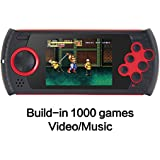 CZT 3.0 Inch Retro Game Handheld Player Game Console Built-in 1100 SEGA Games Video Game Console Support AV Cable designed for SEGA (Red)