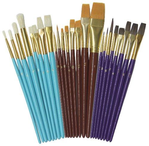 Creativity Street Deluxe Brush Assortment, 24 Pack (AC5134)