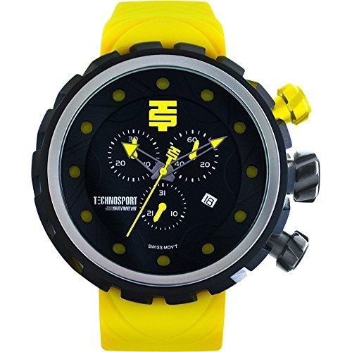 TechnoSport Men's Chrono Watch - Black / Lime