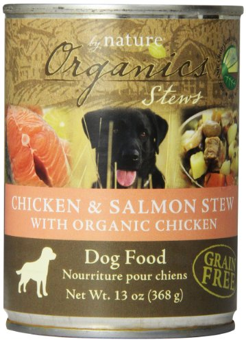 BY NATURE 392107 12-Pack Organic Chicken and Salmon Stew Food for Dogs, 13-Ounce