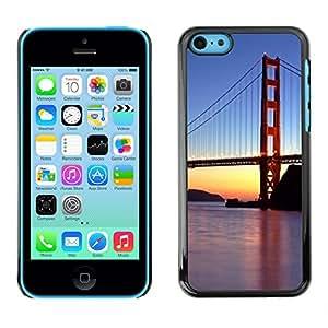 X-ray Impreso colorido protector duro espalda Funda piel de Shell para Apple iPhone 5C - Francisco Golden Gate Bridge Sunset River